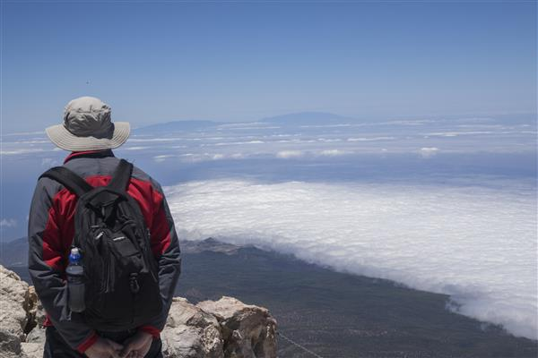 מבט מראש הר הגעש אל טיידה בטנריף