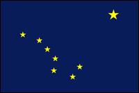 """דגל ארה""""ב - אלסקה"""