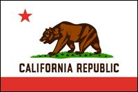 """דגל ארה""""ב - קליפורניה"""