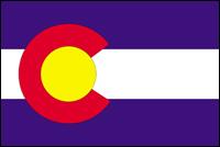 """דגל ארה""""ב - קולורדו"""