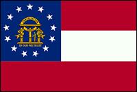 """דגל ארה""""ב - ג'ורג'יה"""