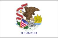 """דגל ארה""""ב - אילינוי"""