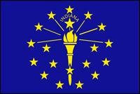 """דגל ארה""""ב - אינדיאנה"""