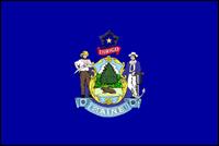 """דגל ארה""""ב - מיין"""