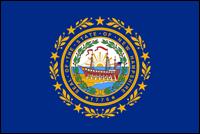 """דגל ארה""""ב - ניו המפשייר"""