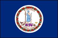 """דגל ארה""""ב - וירג'יניה"""