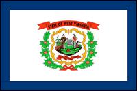 """דגל ארה""""ב - מערב וירג'יניה"""