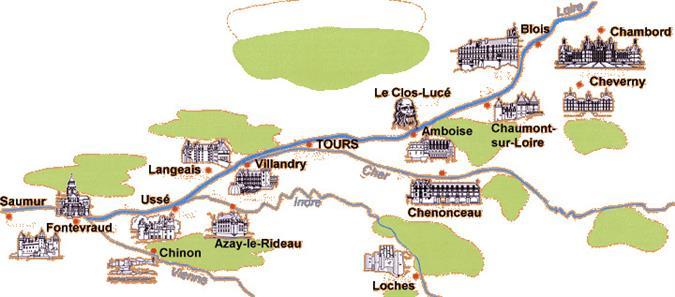 מפת טירות בחבל לואר