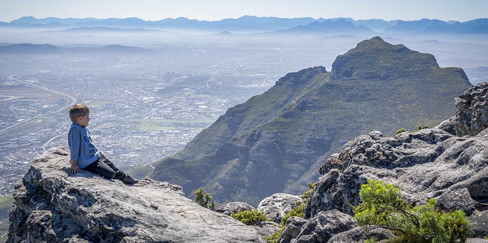 נוף מהר השולחן בדרום אפריקה